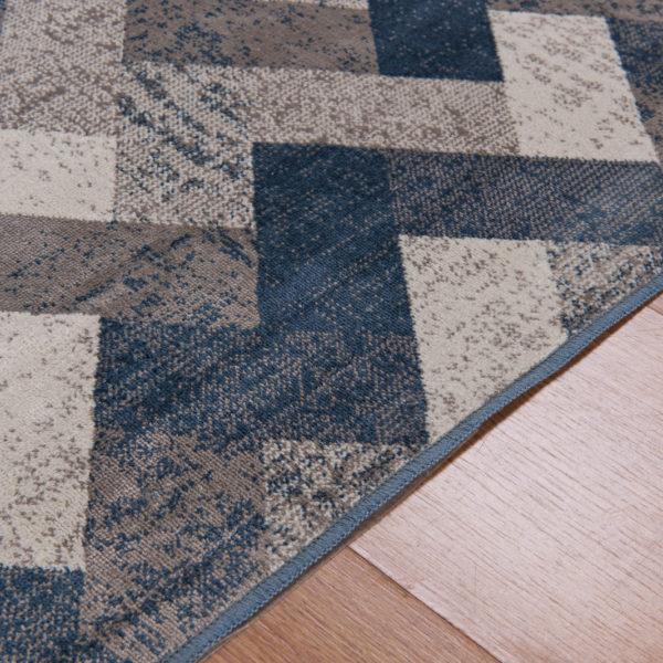 Tapete belga stillo cinza e Azul 2,00×3,00m detalhes2